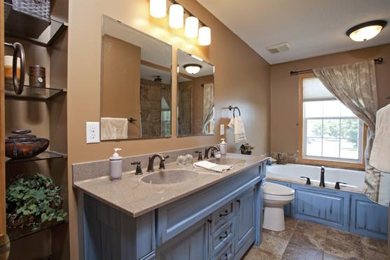 Woodbury Mn Bathroom Remodel Upgrade With Cambria Vanity Top Maple Cabinets Oil Rubbed Bronze
