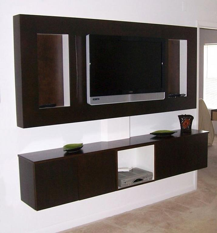 Contemporary TV Wall Unit From Custom Wood Products Of Orlando LLC In Orland