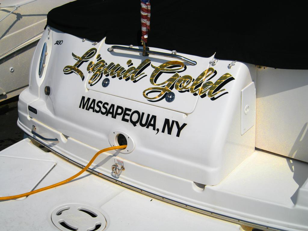 Custom Boat Name Decals