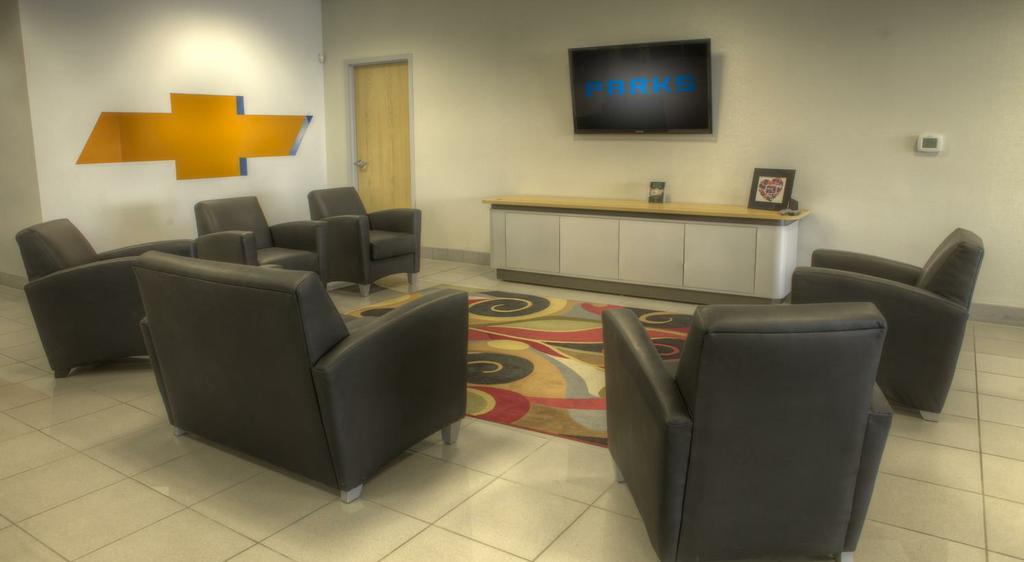 Parks chevrolet customer lounge from parks chevrolet in for Parks motors augusta kansas