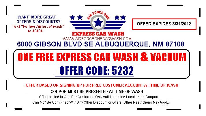Clean car express coupons