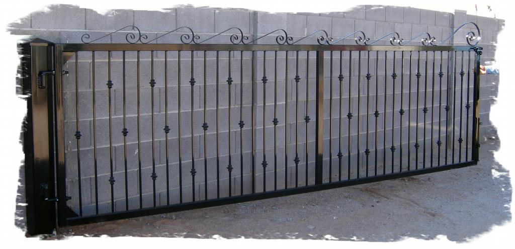 Gates For Rvs : Iron rv gate from action gates fence in mesa az