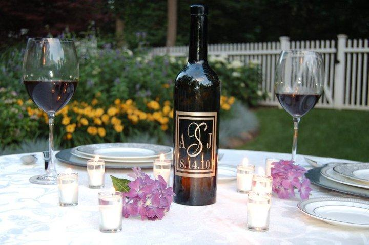 Personalized and Uniquely Beautiful Wedding Centerpieces Word Couture Wine
