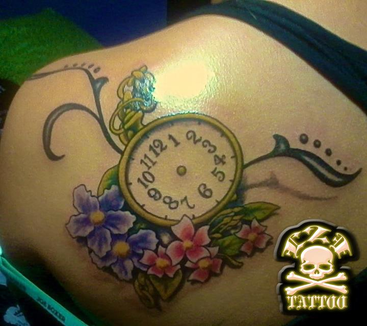 Pictures for live 2 imagine tattoo studio in endicott ny for Stop watch tattoos