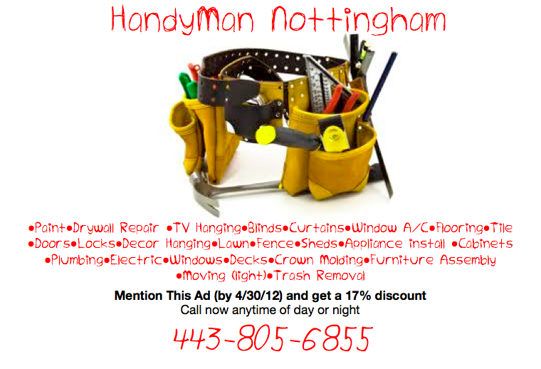 HandyMan Ad Pic2 from Nottingham HandyMan in Nottingham, MD 21236