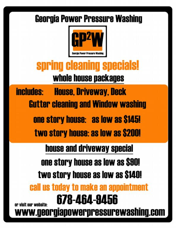 Flyer Copy From Georgia Power Pressure Washing In