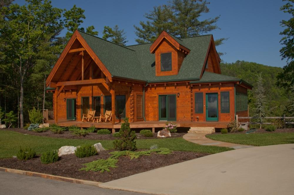 Pictures for custom timber log homes in maryville tn 37801 for Home builders in maryville tn