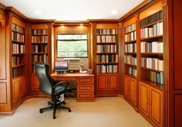 custom wood office furniture