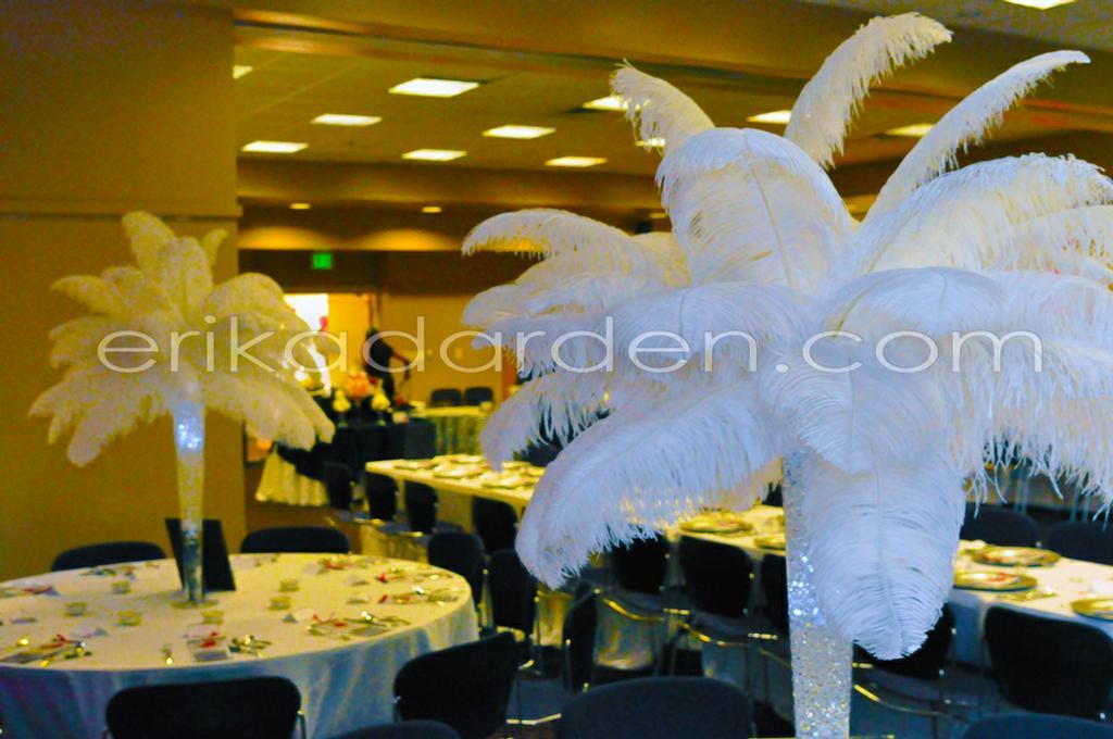 Ostrich feather centerpiece rentals rent