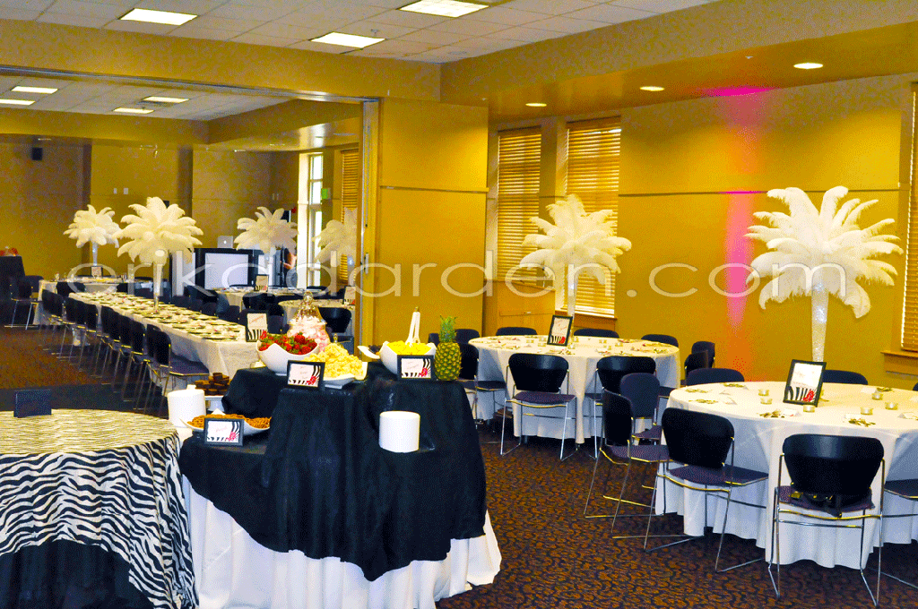 Rent ostrich feather centerpieces