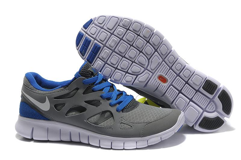 nike free run 2 grey and blue