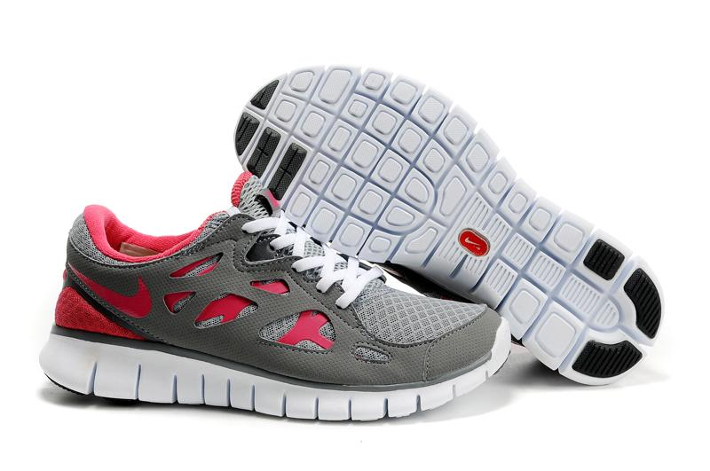Nike Free Run 2 Womens Grey Pink White Black,www.nikefreecheaps.com by