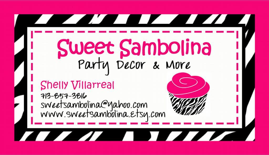 SS Business card vistaprint 2 from SweetSambolina Party