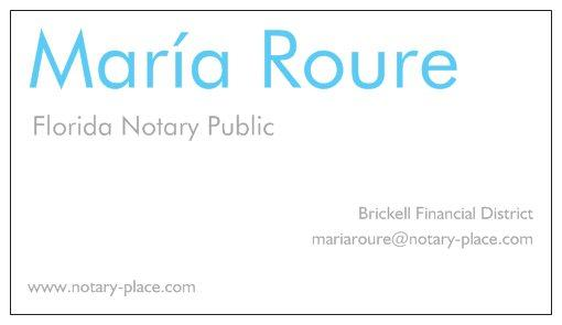 Business card 2g from maria roure florida notary in miami fl 33131 business card 2g by maria roure florida notary reheart Image collections