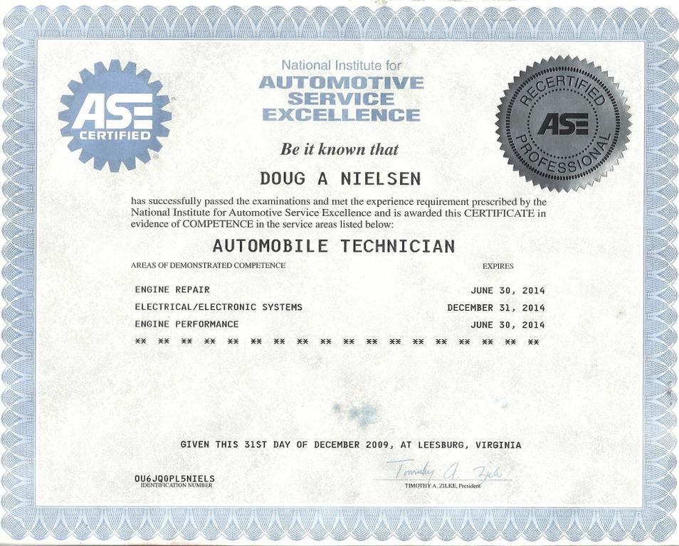 Ase certificate template 28 images add item to cart for Fake ase certificate template