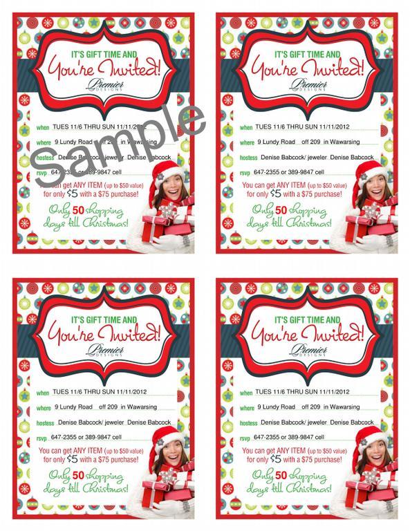 Premier designs jewelry invitation ideas images for Premier designs invitations