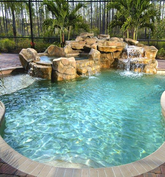 Swimming Pool Designs With Waterfalls | Modern World Home Interior ...