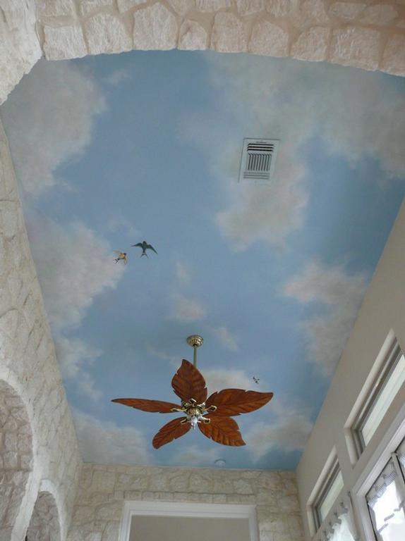 Pictures for a 39 bella designs in san antonio tx 78259 for Cloud mural ceiling