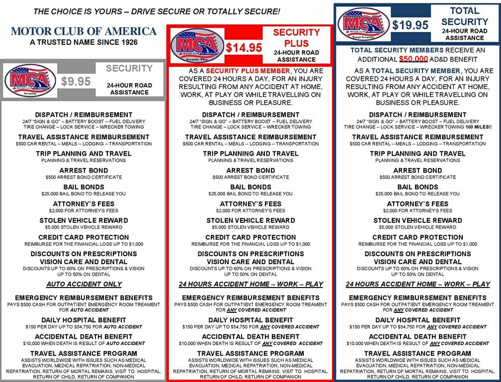 Mca Flyer For All 3 Page 001 From Motor Club Of America In