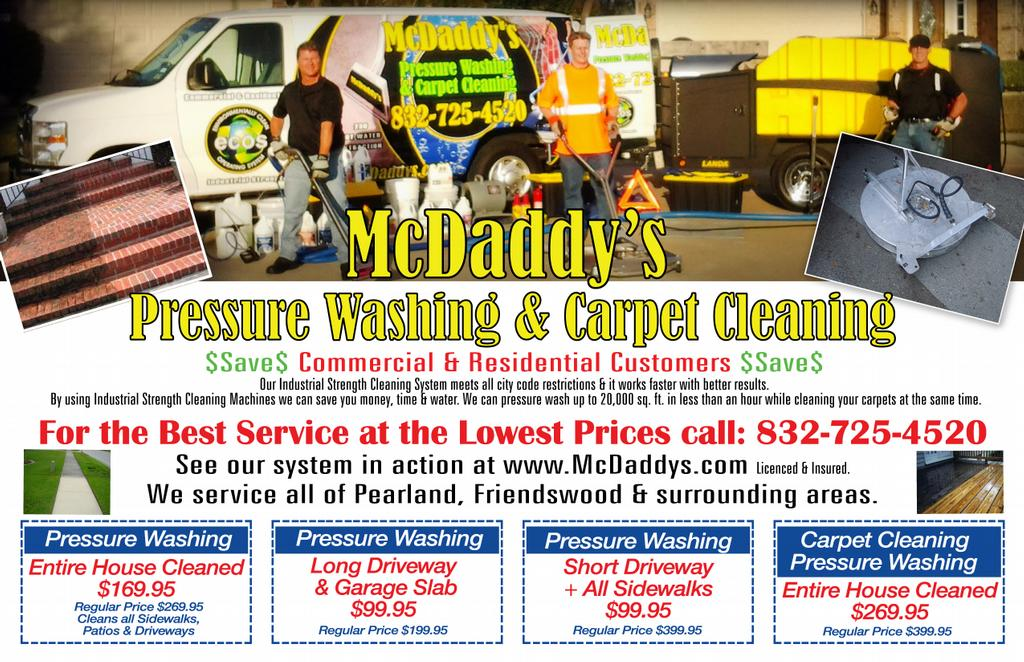 Mcdaddy S Pressure Washing Amp Carpet Cleaning Industrial