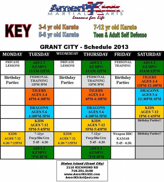 Amerikick Staten Island Schedule