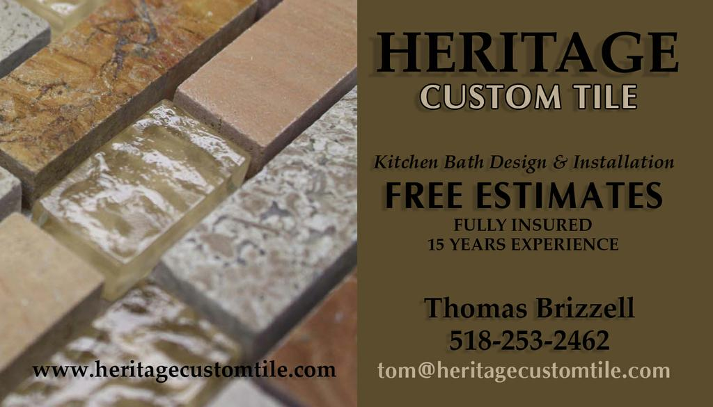 for Heritage Custom Tile in Albany NY