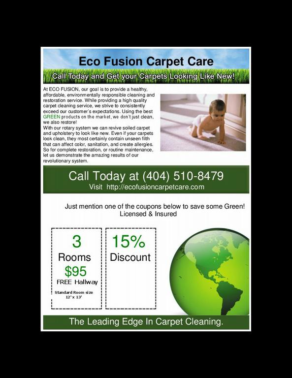 Eco Fusion Carpet Care - Kennesaw GA 30144 | 404-510-8479