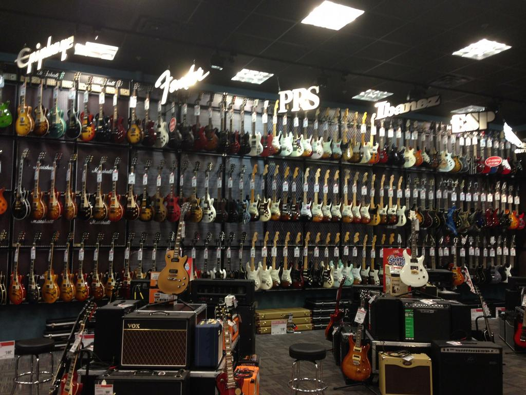by gc studios inside guitar center. Black Bedroom Furniture Sets. Home Design Ideas