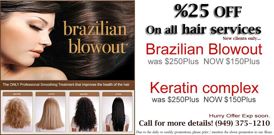 Brazilian Blowout Irvine 92604 keratin Complex promotion from ...
