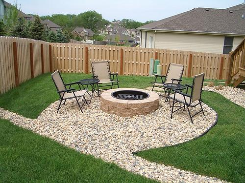 Rock Patio Fire Pit From Green Clips Lawn Amp Landscape In