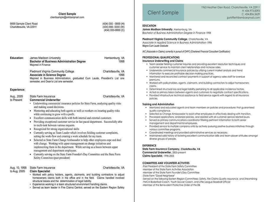 insurance underwriter before and after resume sample jpg