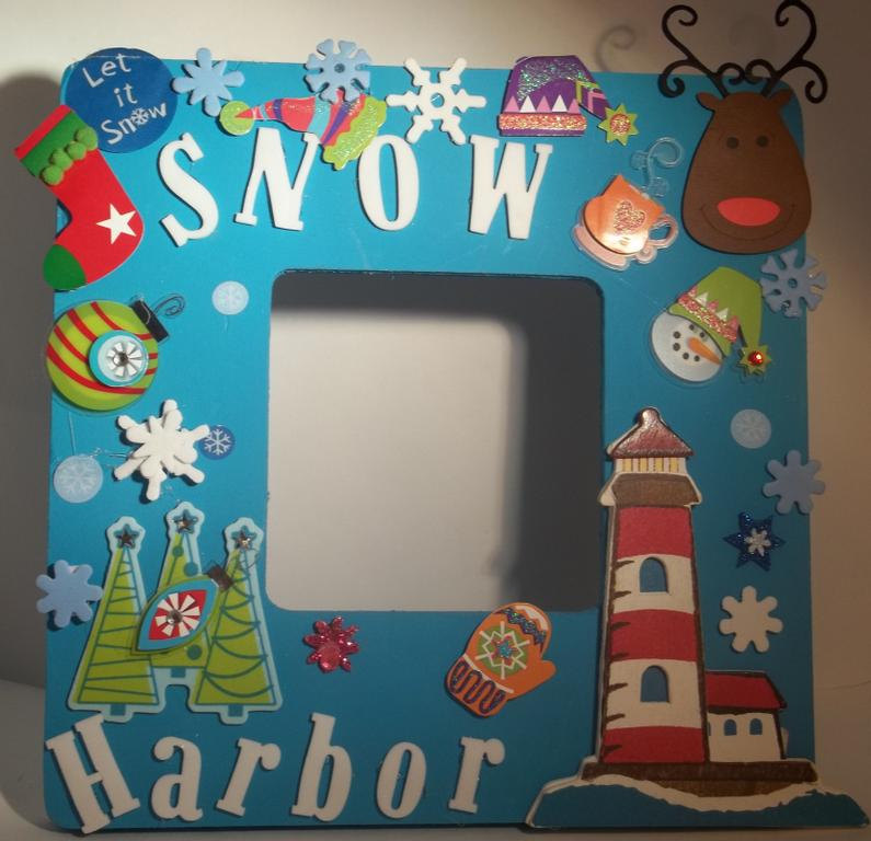 Snow Harbor Frame-Crafty Hand Painted Picture Frames for Kids (8 in x ...