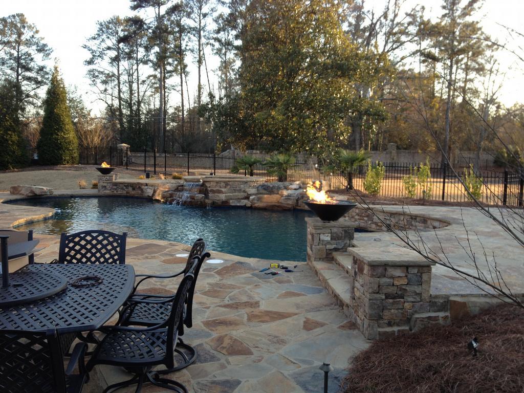 Furniture Buford Ga Swimming Pool With Fire Bowls - Marietta, Georgia by Sandals Luxury ...
