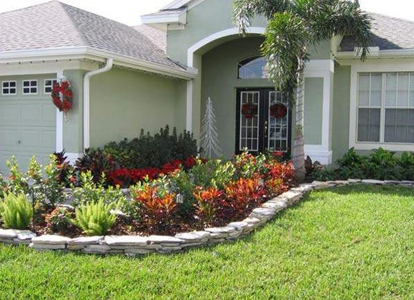 Landscape raw ideas on pinterest plants ornamental for Front yard landscape design photos