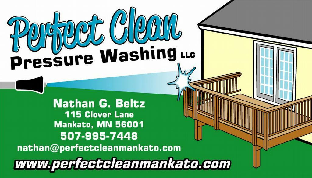 Company Business Card from Perfect Clean Pressure Washing LLC in ...