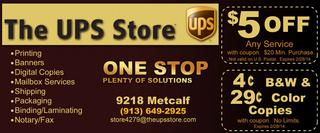 The UPS Store is your one-stop shop in making your small business easier to manage. They are your helpful neighborhood small business resource center, with a range of products and services including professional printing, packing and shipping, mailbox services and more.