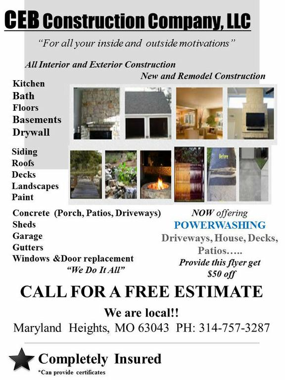 Construction Services Flyer : Ceb construction company llc flyer from