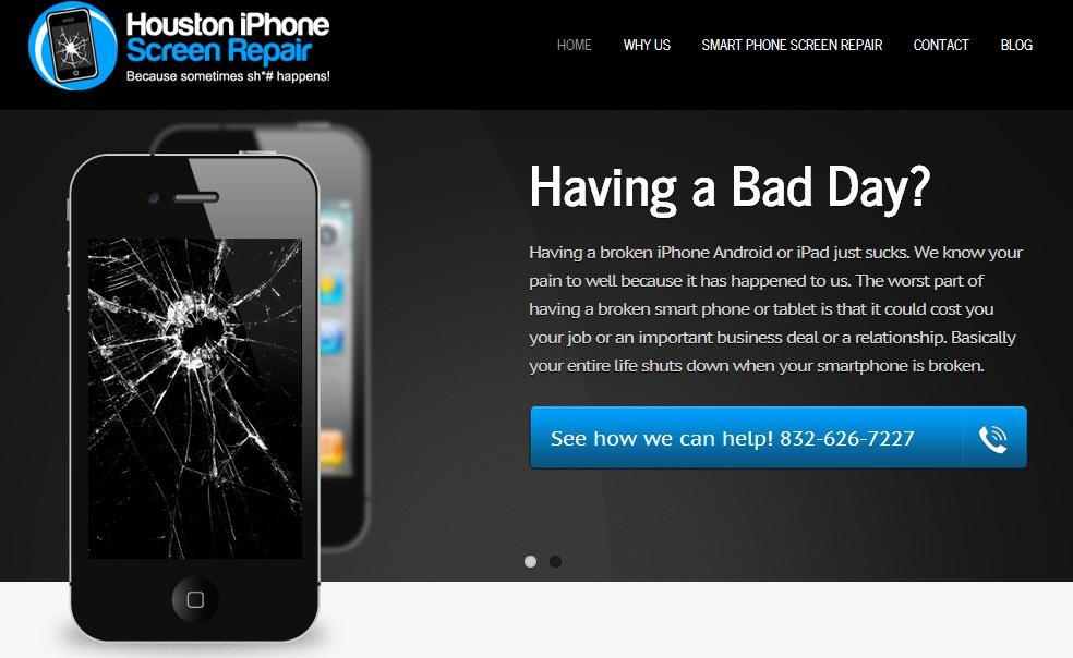 how to fix a broken iphone screen pictures for houston iphone screen repair in tx 77380 2252