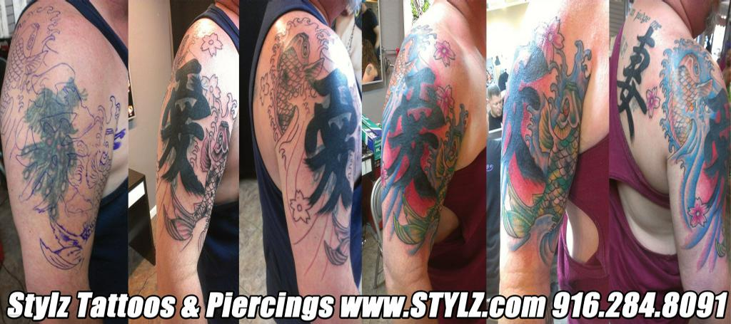 sacramento tattoo coverup from STYLZ TATTOOS & PIERCINGS in ...