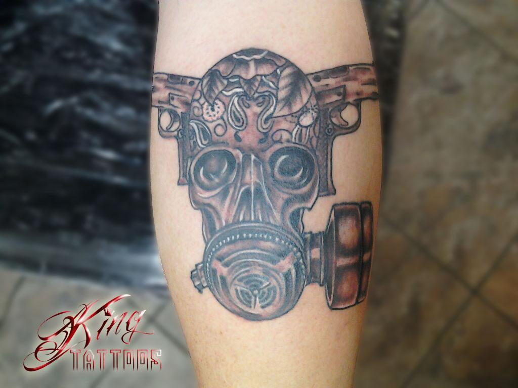 sacramento tattoo gas mask skull from STYLZ TATTOOS & PIERCINGS in ...