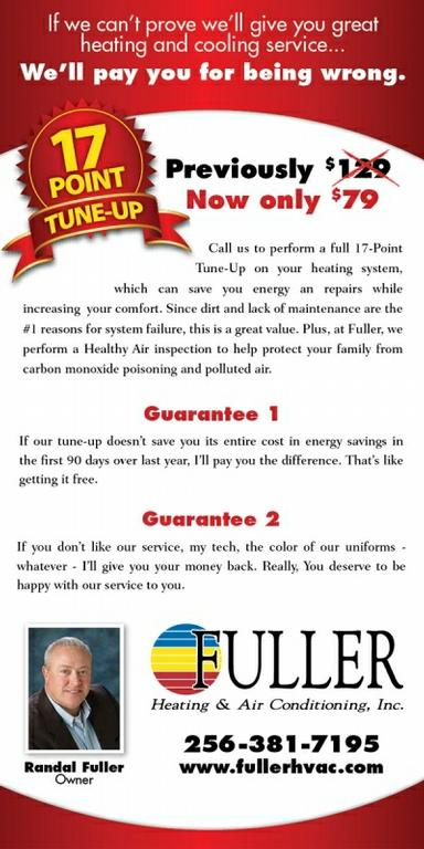 Fuller Heating And Air Conditioning Tune Up