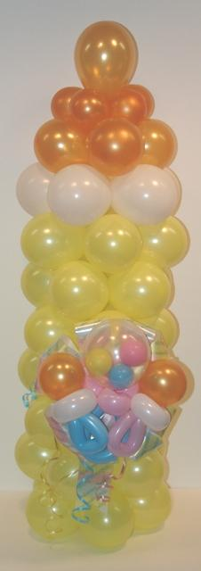 Baby Bottle with Pacifiers and Rattle Balloon Sculpture from