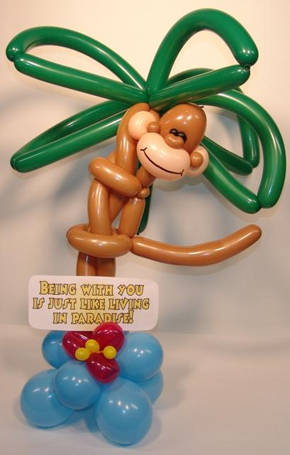 Paradise Monkey Balloon Delivery from BALLOONATICS in Denver, CO 80219