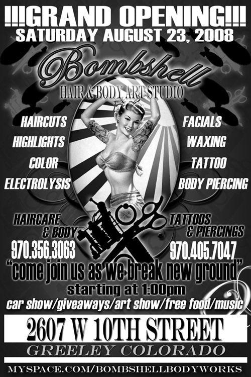Newsletters bombshell tattoo piercing hair body for Loveland tattoo shops