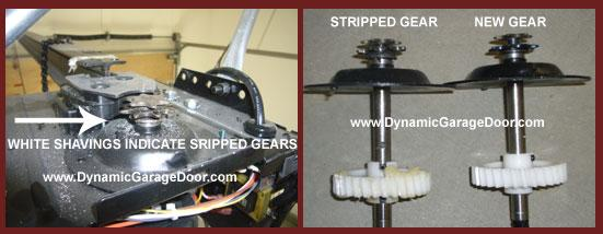 Garage Door Opener Motor Stripped Gears From Dynamic
