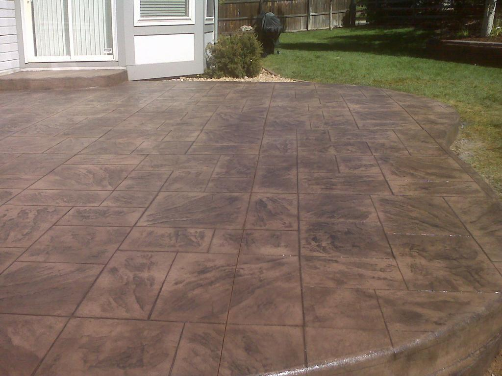 Stamped Concrete Patio from Wildflower Landscape in Denver, CO 80241