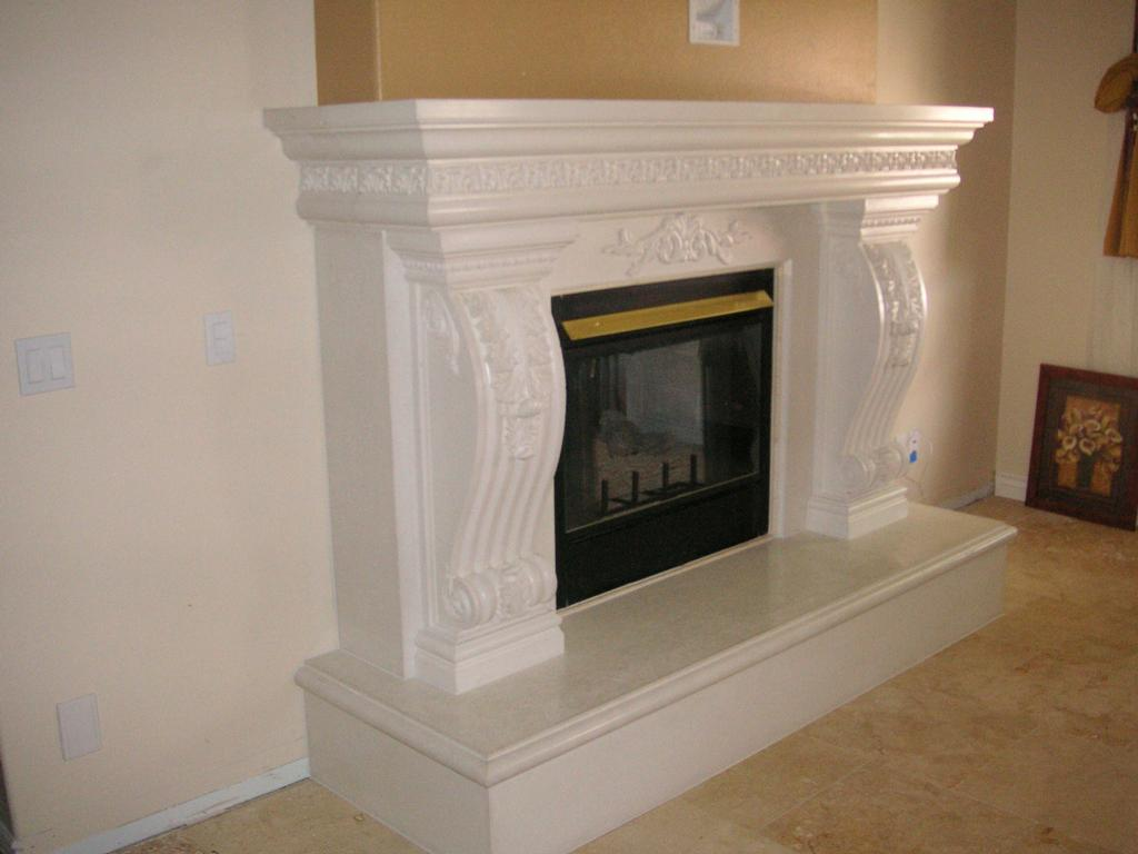 Tuscan Fireplace Mantel Has Acanthus Leaf Detail Wraps