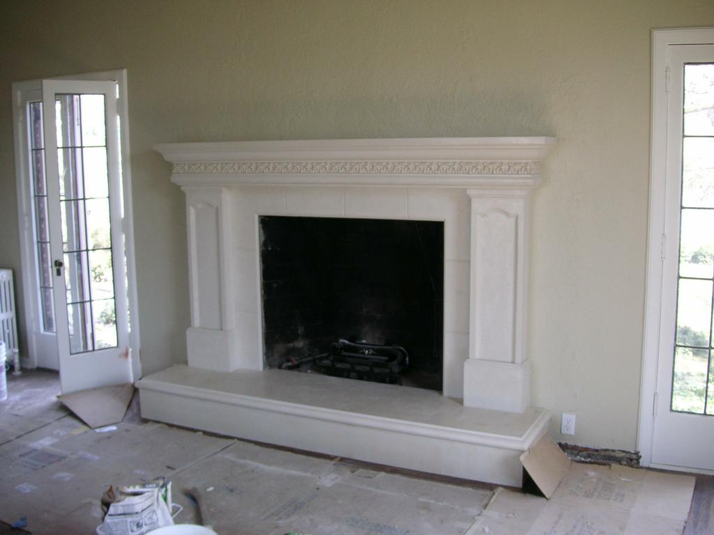 12 fireplace mantel with inlay legs acanthus leaf