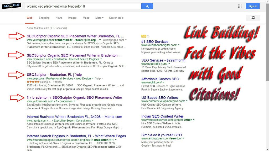 Our Powerlisting service is second to none. by SEOScriptor Organic SEO Placement Specialist