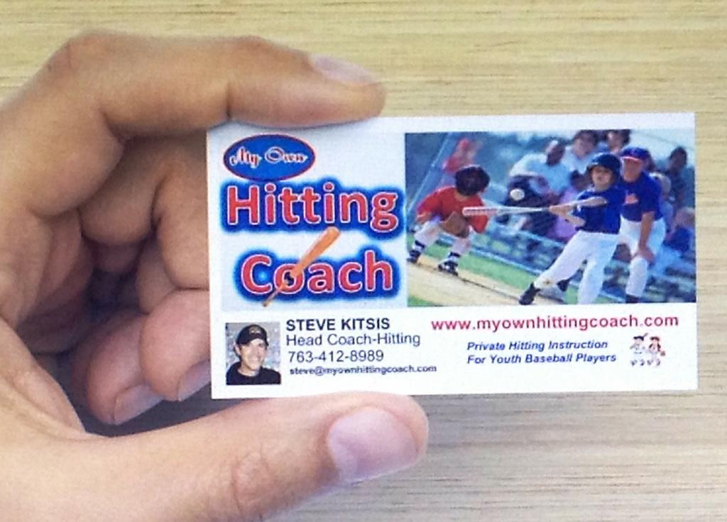 Business card from my own hitting coach in minneapolis mn 55427 business card by my own hitting coach colourmoves Choice Image